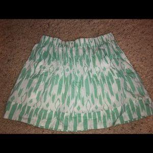 J.Crew Mint Green Printed Skirt Size Small